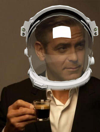 Clooney loves a pre-packaged coffee of no particular origin or ethics